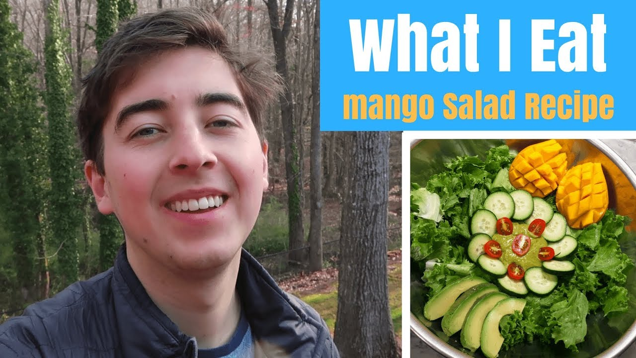What I Eat in a Day ~ Raw Vegan ~ Mango Cilantro Salad Recipe