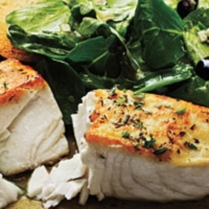Halibut à la Provençal over Mixed Greens recipes