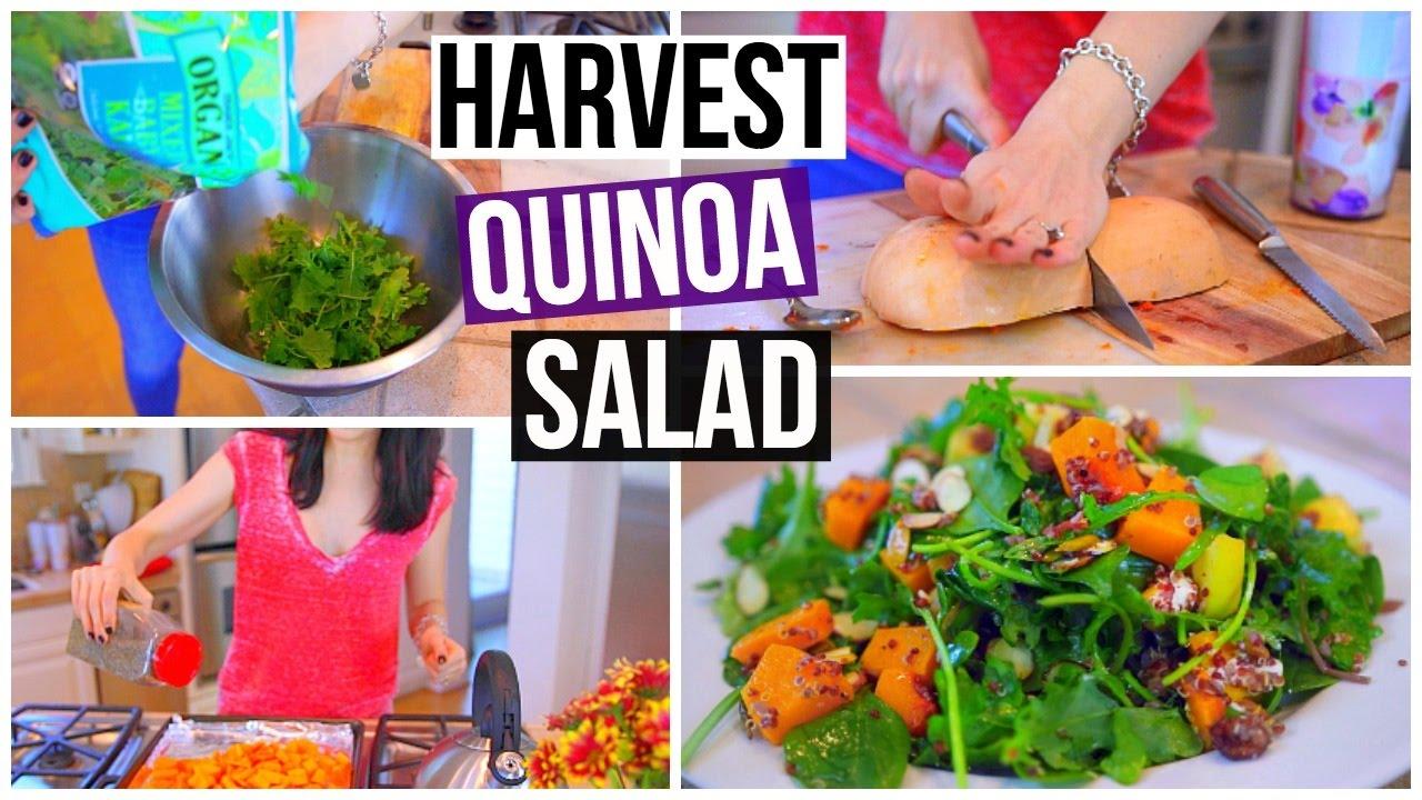 HARVEST QUINOA SALAD! Vegetarian & Gluten Free!