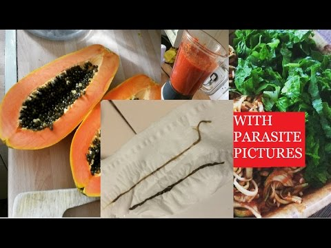 How I passed 2 ROPE WORM PARASITES with this salad | Raw vegan papaya seed recipe | With pictures