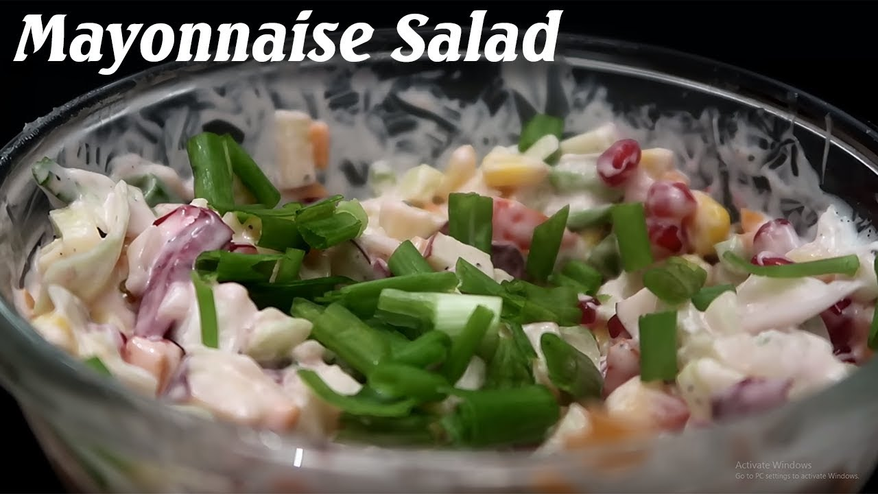 How Make Best Veg Mayonnaise Salad in 5 Minutes #Recipes #Salad