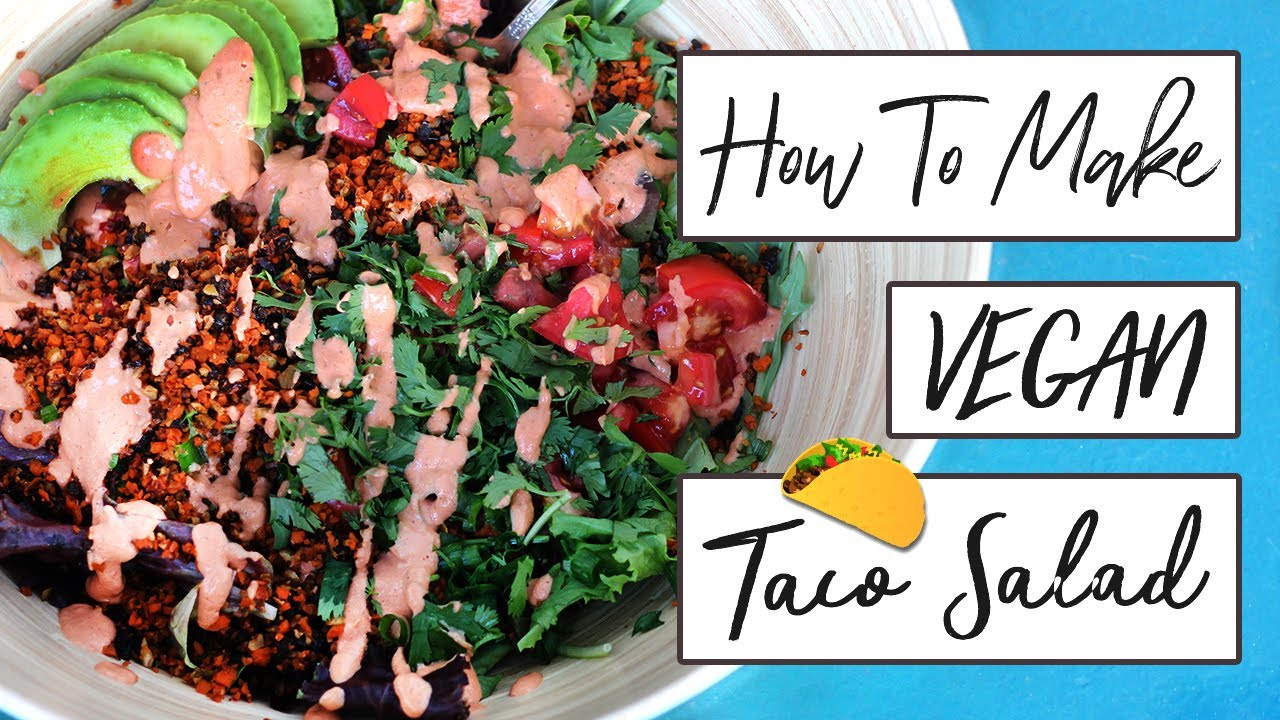 HOW TO MAKE A RAW VEGAN TACO SALAD // SALT-FREE // OIL-FREE