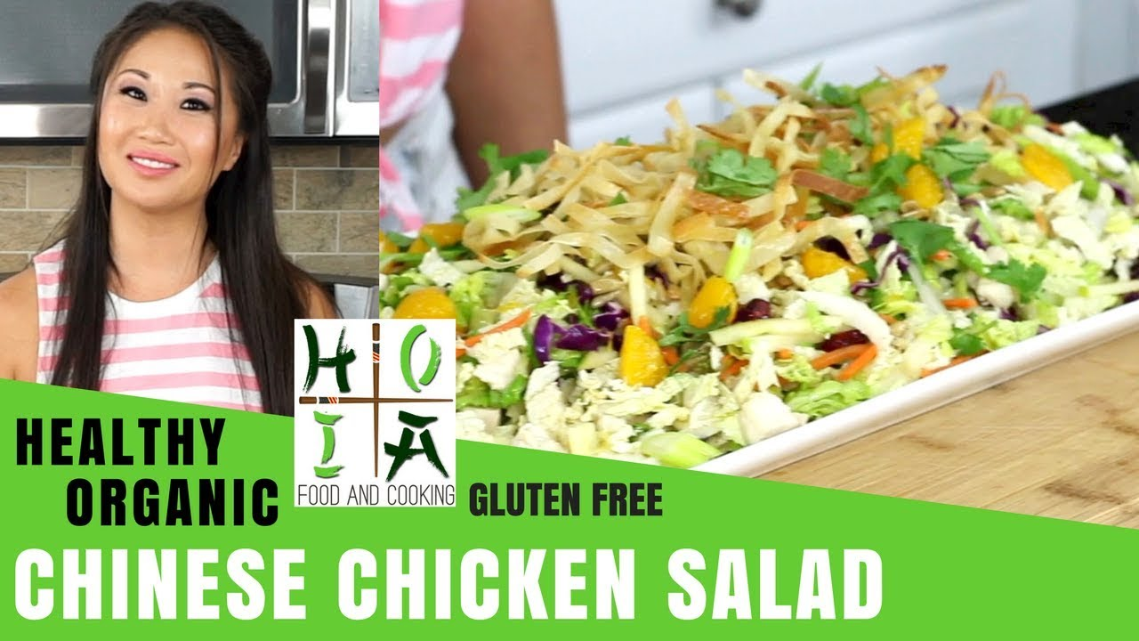 How to Make HEALTHY ORGANIC Chinese Chicken Salad  | Recipe | Diane Yang Kirk | Ep 30