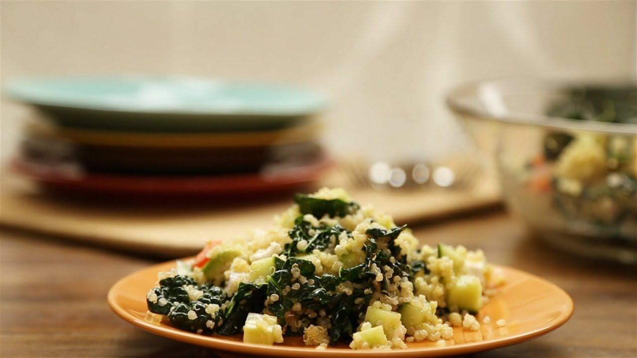 How to Make Kale, Quinoa and Avocado Salad | Vegetarian Recipes | Allrecipes.com