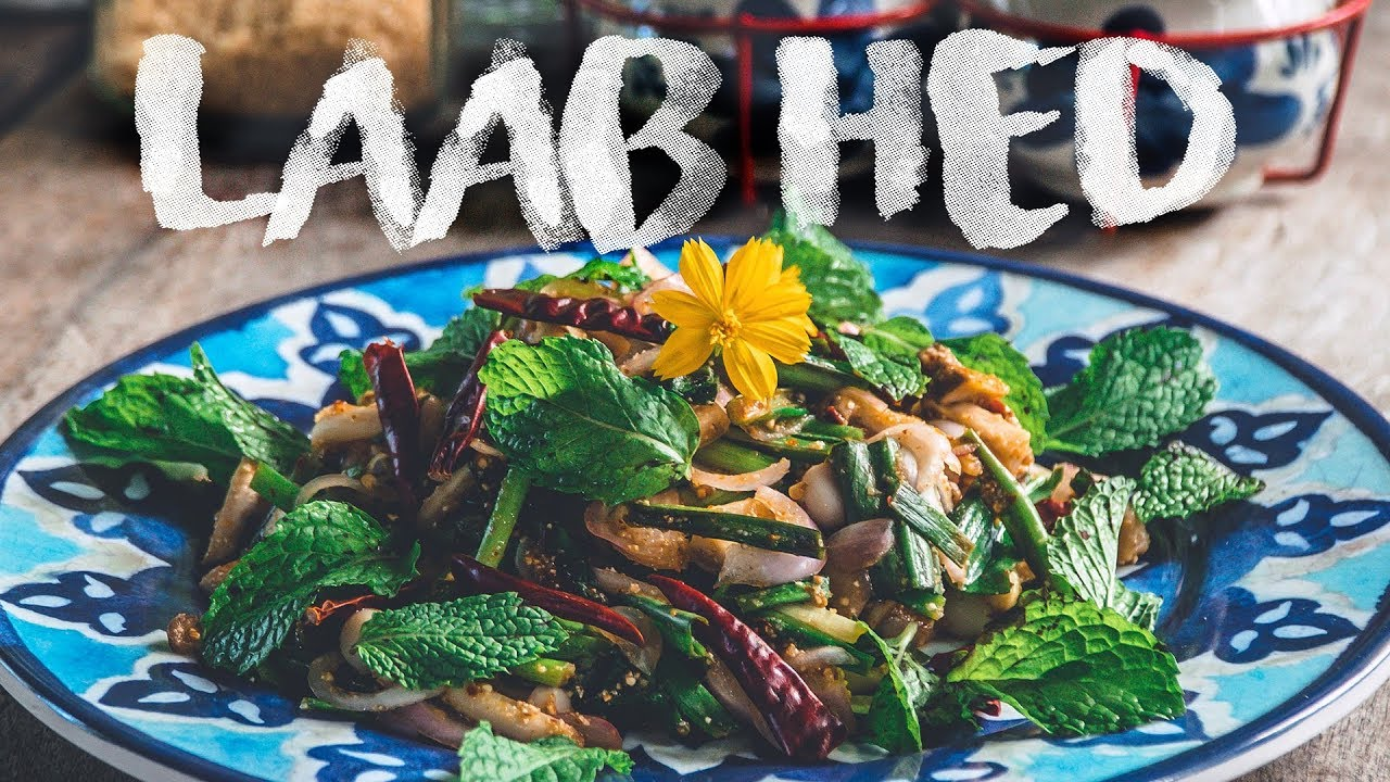 How To Make Laab Hed | VEGETARIAN* Thai Spicy Mushroom Salad | Authentic Family Recipe #26