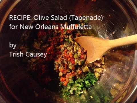 Recipe: Olive Salad (Tapenade) for New Orleans Muffuletta – Vegetarian & Gluten-Free
