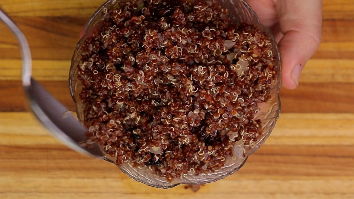 Red Quinoa Recipe – clean eating – plant based vegan food recipes