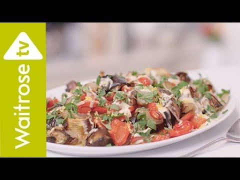 Roasted Aubergine and Tahini Warm Salad | Waitrose