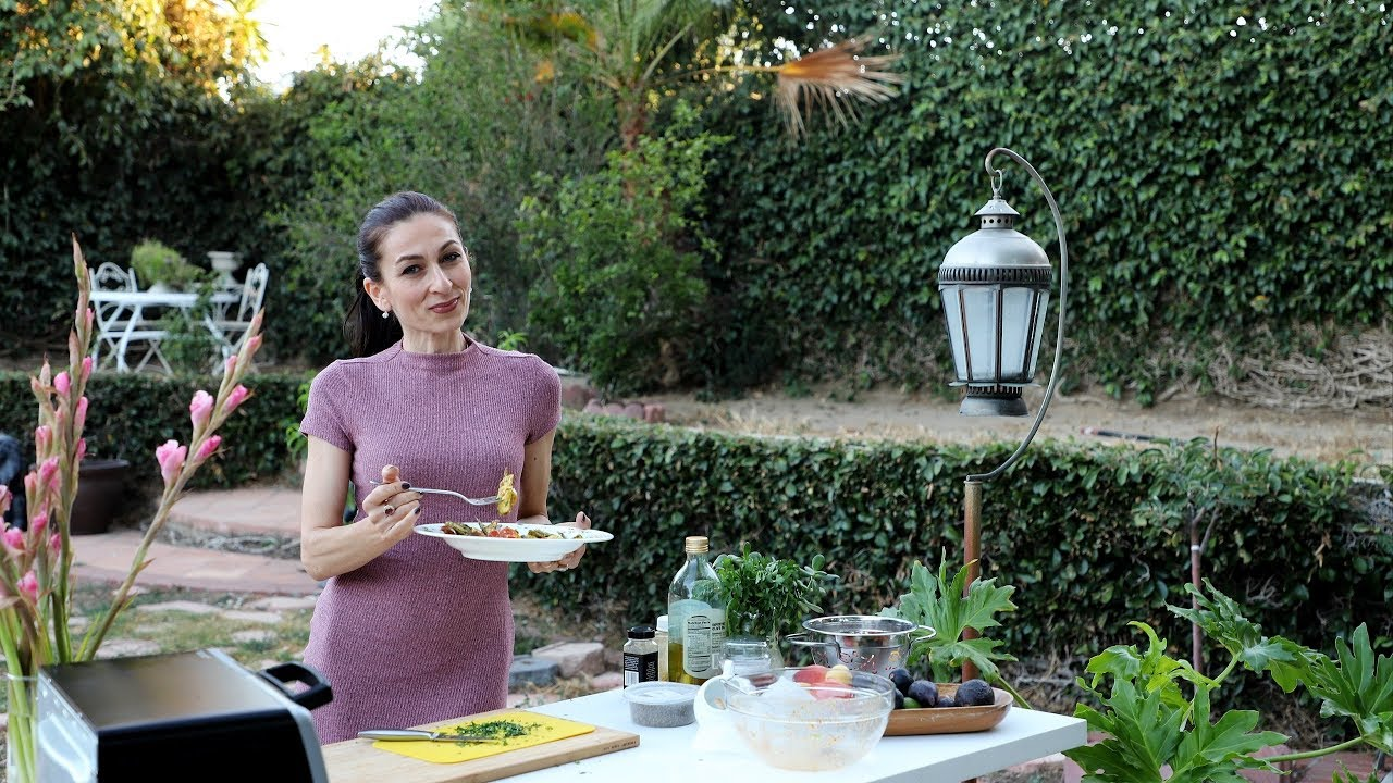 Roasted Okra Avocado Warm Salad Recipe – Heghineh Cooking Show