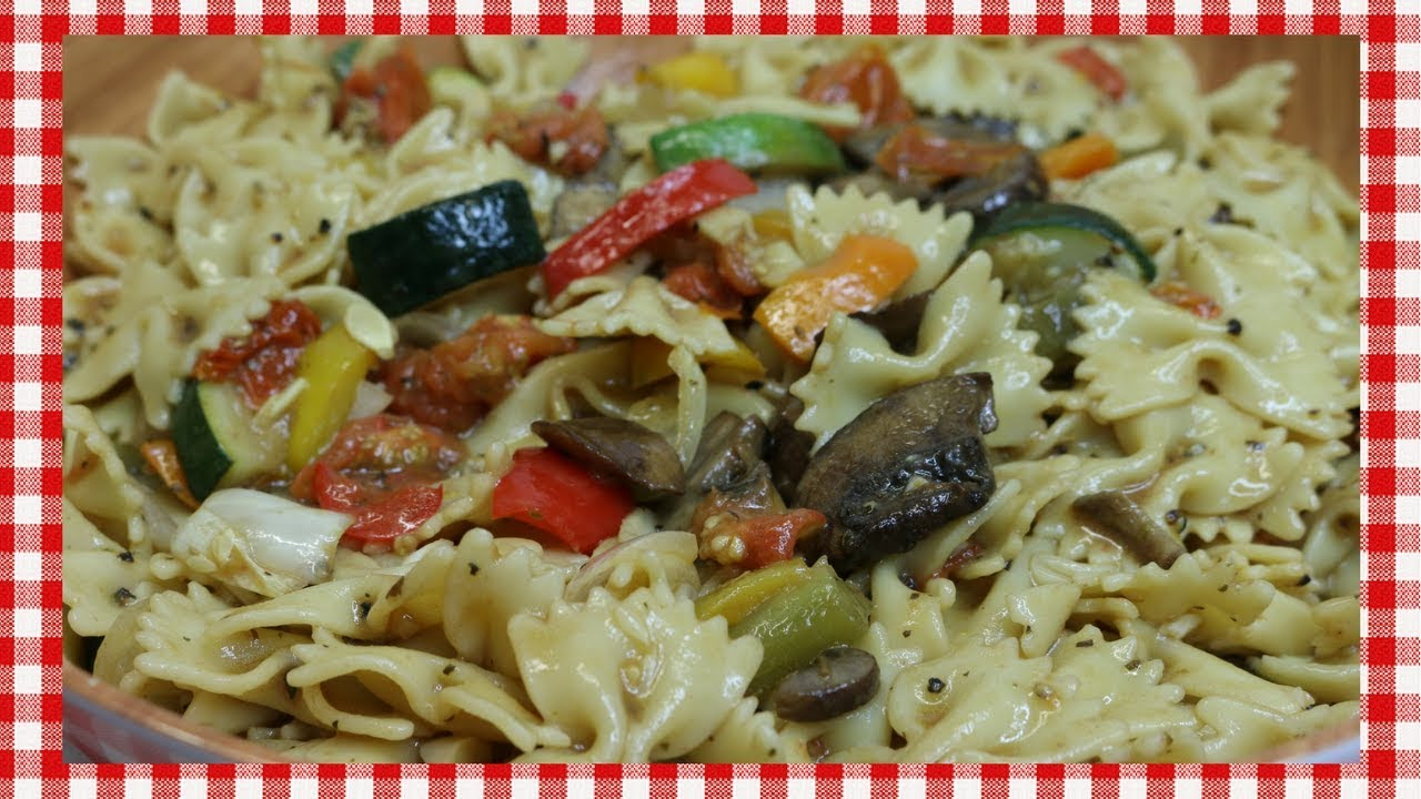 Roasted Vegetable Pasta Salad ~ Spring Pasta Salad Recipe ~ Tasty Easter Recipe  ~ Noreen's Kitchen