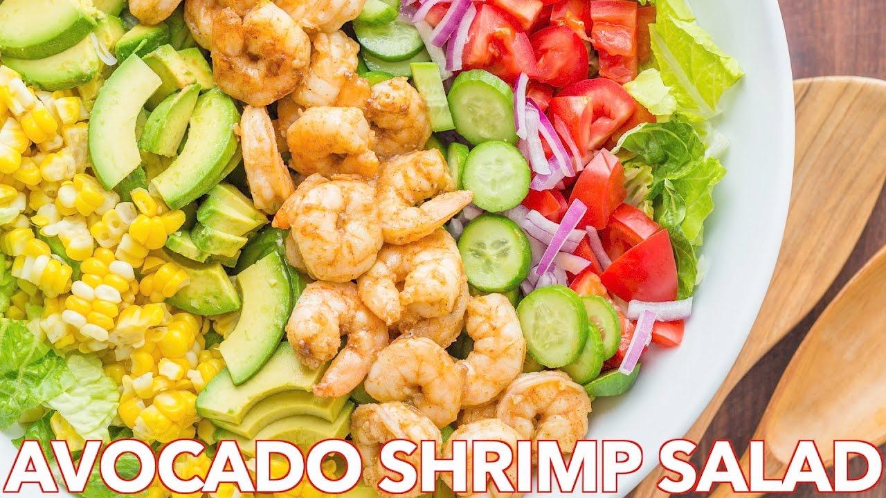 Salads: Avocado Shrimp Salad Recipe + Simple Cilantro Lemon Dressing