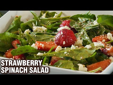 Strawberry Spinach Salad Recipe – Healthy Salad With Dressing – Weight Loss Salad Recipe – Smita