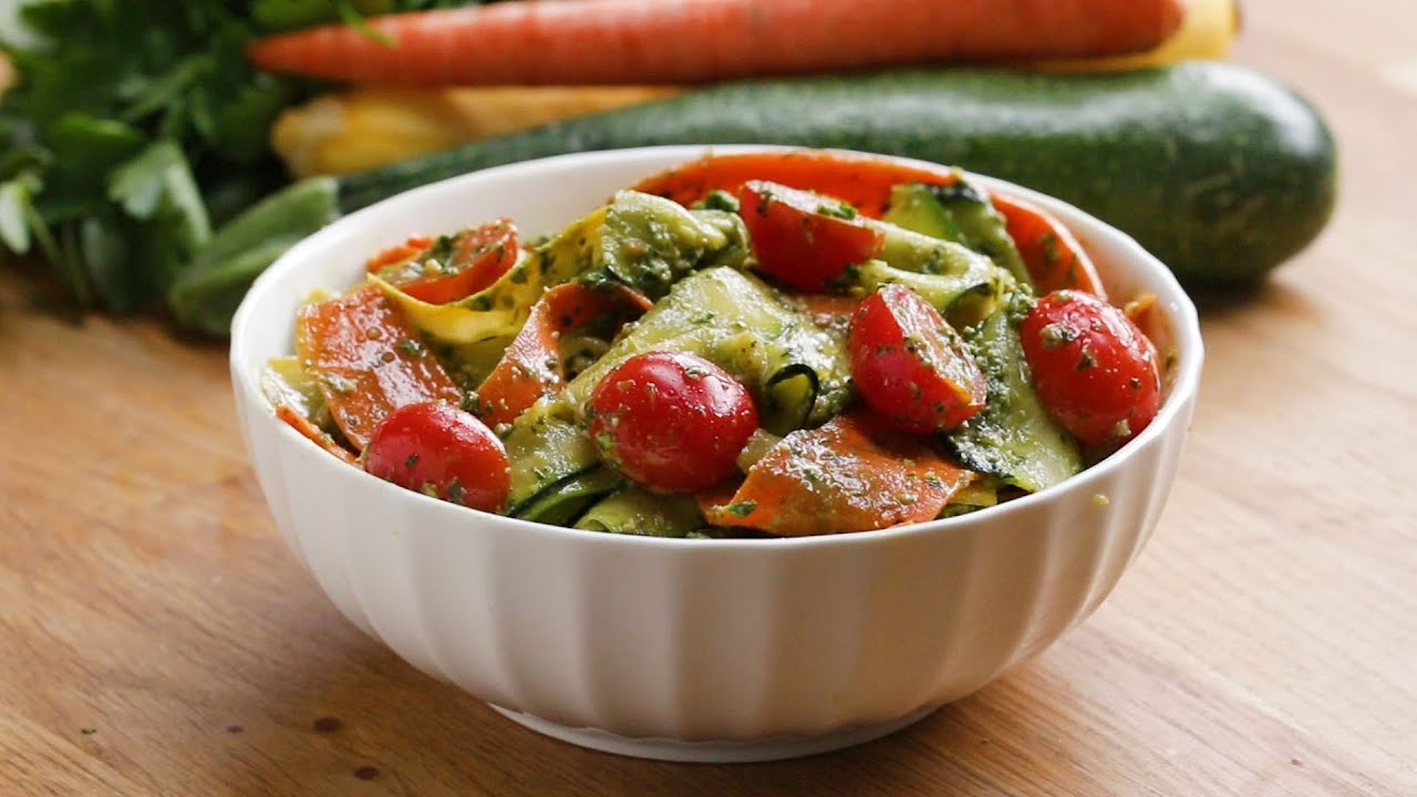Summer Vegetable Pesto Ribbon Salad