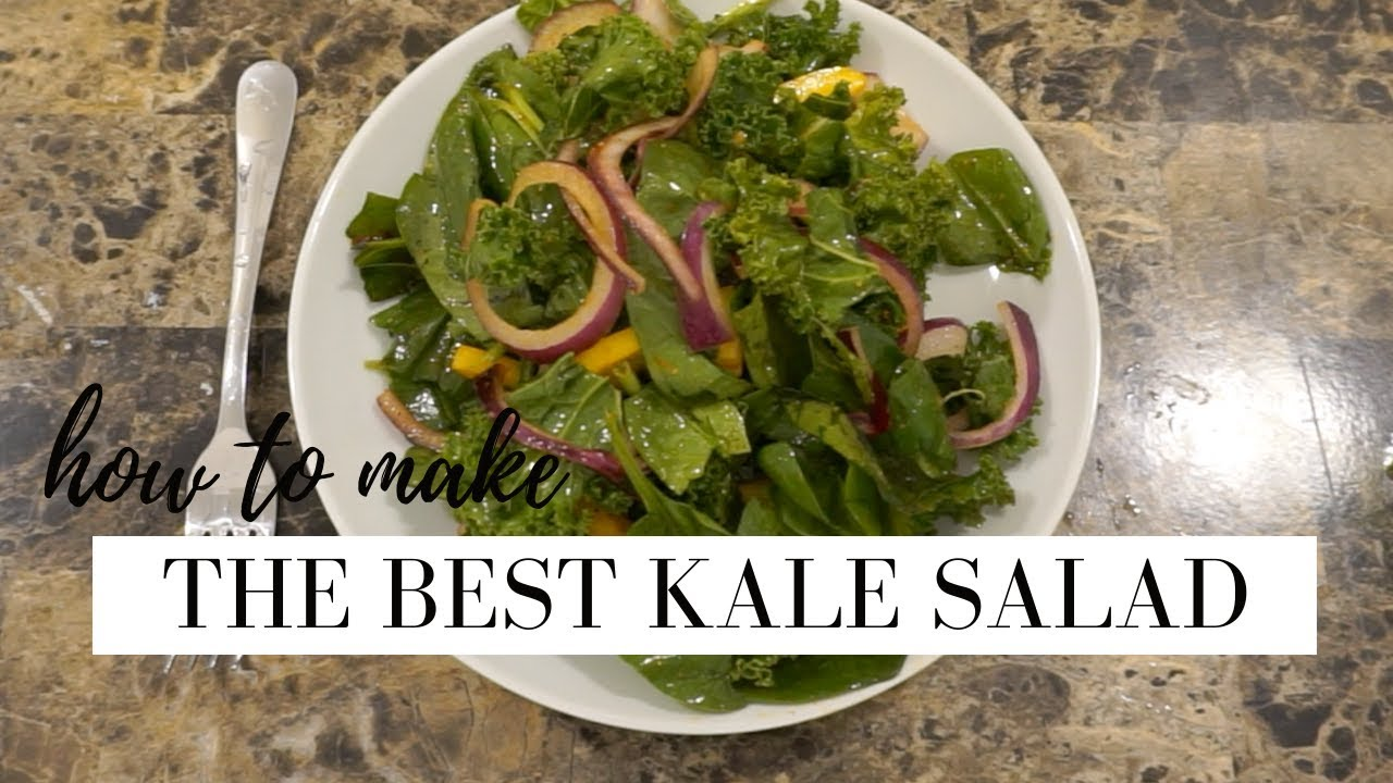 THE PERFECT KALE SALAD | how to make a raw kale salad | STACEY FLOWERS