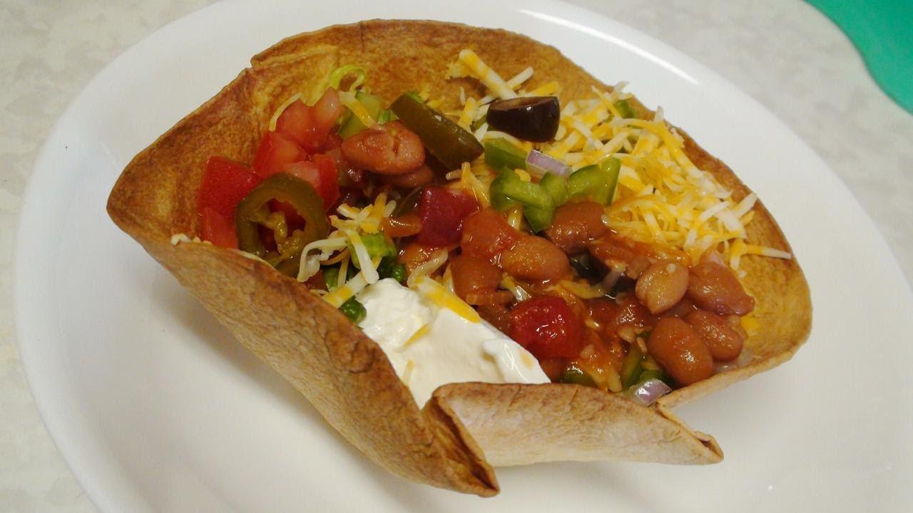 Vegetarian Taco Salad Bowl or Burrito Bowl – Mexican Cuisine Recipes by Bhavna