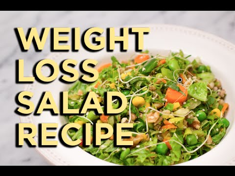 "Weight Loss Salad Recipe Video [aka ""Kitchen Sink Salad""]"