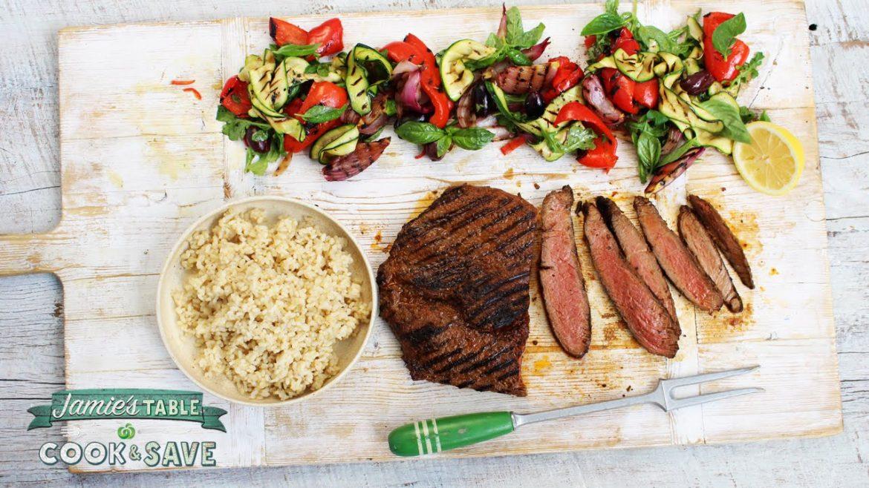 Jamie's Sweet Pepper Steak & Grilled Veggie Salad | Woolworths