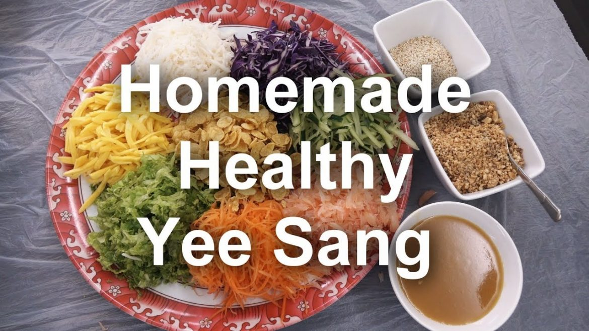 Healthy Yee Sang (Homemade Chinese New Year prosperity Toss Salad)