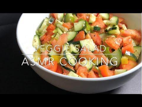 ASMR Cooking Veggie Salad – All Sound