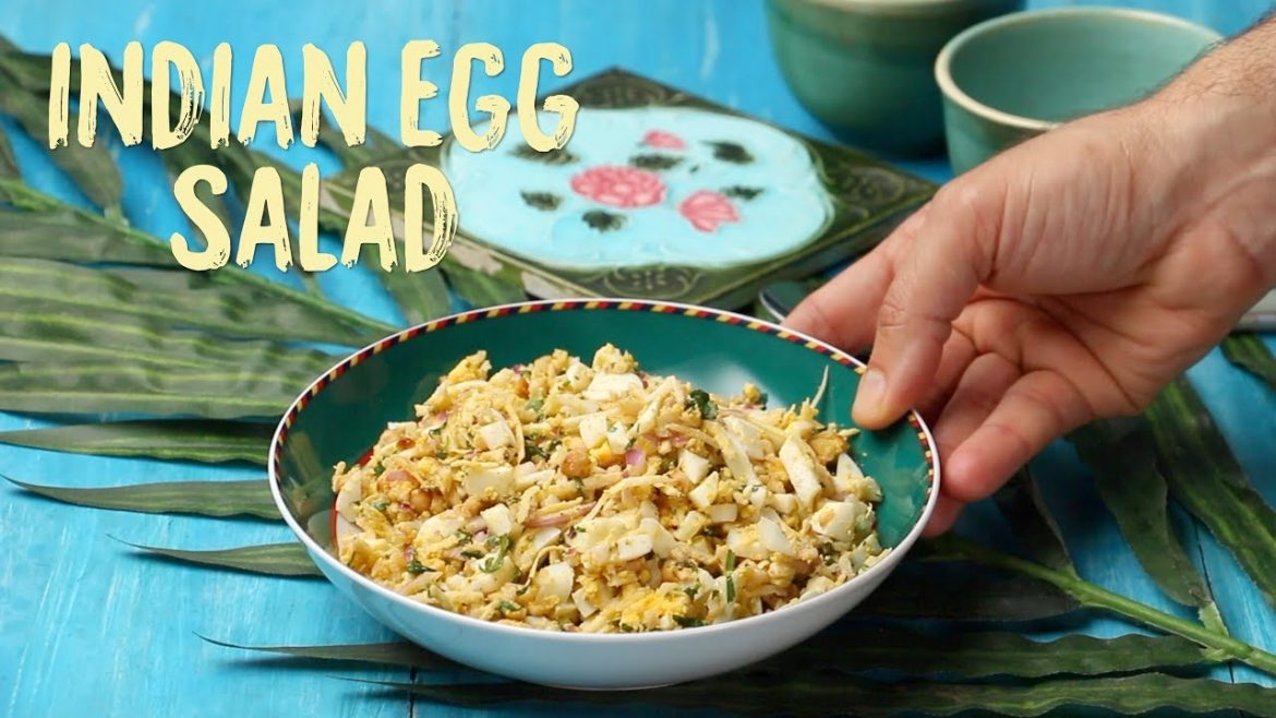 Indian Egg Salad | How to make easy Indian Style Egg Salad at Home