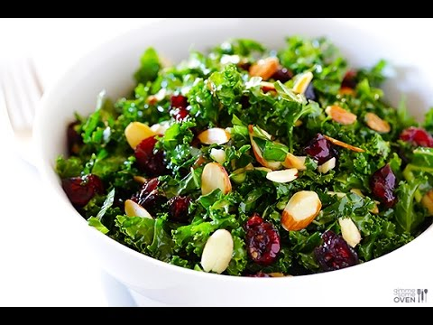 10 Day Detox Diet Recipes – Raw Kale Salad Recipe – Easy