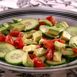Cucumber-Tomato-Avocado Salad with Tequila-Lime Vinaigrette