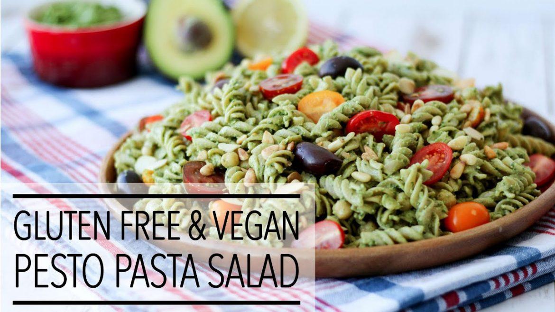 Gluten Free Vegan Pesto Pasta Salad Recipe