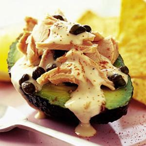 Tuna Avocado With Caesar Dressing