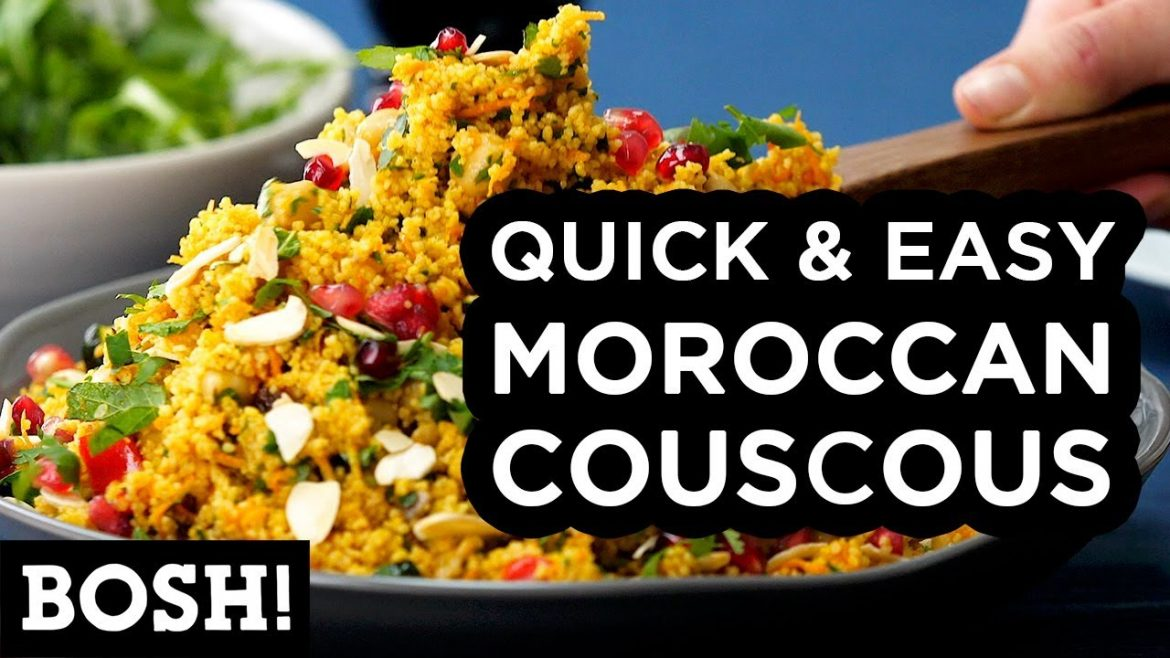 QUICK & EASY MOROCCAN COUSCOUS | BOSH! | VEGAN