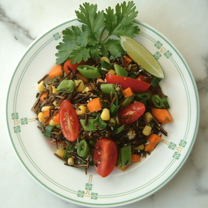 Sprouted Wild Rice Salad