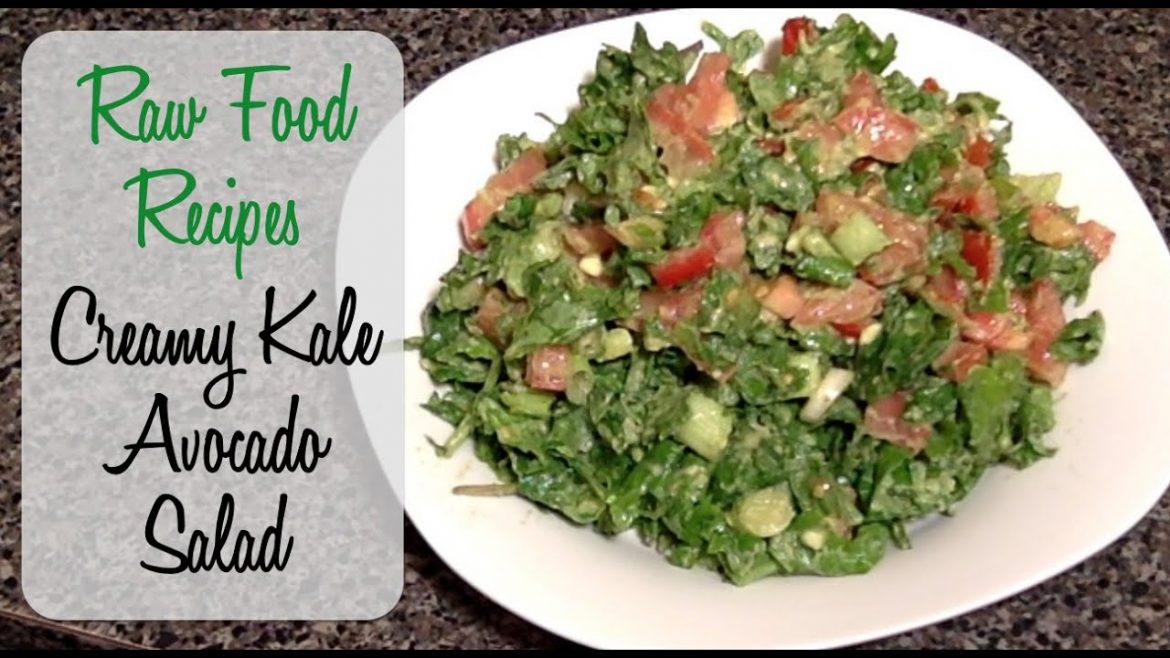 Kale Salad Recipe – Creamy Avocado – Vegan, Raw Food, & Gluten Free