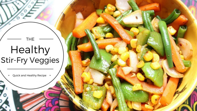 Sauteed Vegetables | Vegetable Stir Fry | Healthy Vegetarian Salad | How To Saute Vegetables
