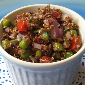 Red Quinoa Salad with Lemon Vinaigrette