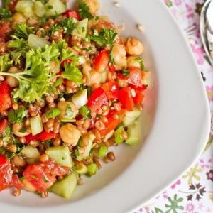 Back-On-Track Wheatberry and Bean Salad