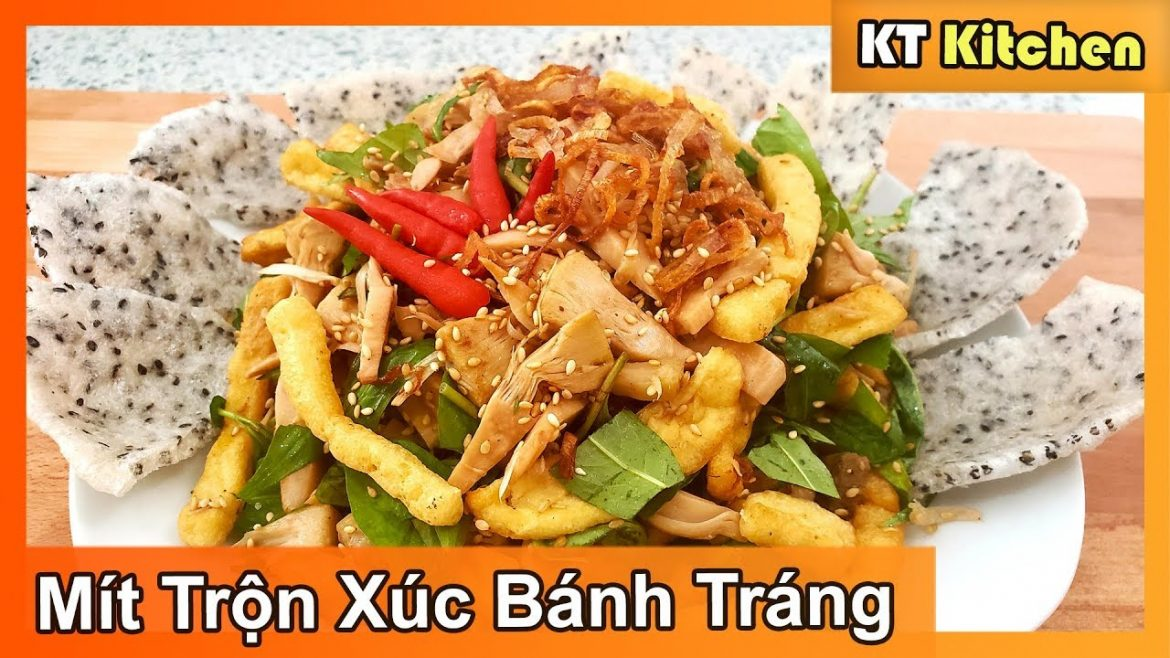 GỎI MÍT CHAY – MÍT TRỘN XÚC BÁNH TRÁNG [ Vegan Young JackFruit Salad Recipe ] ENGLISH CAPTION