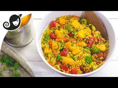 Roasted Vegetables and Peaches Couscous Salad | Cling Peach Series 1/3