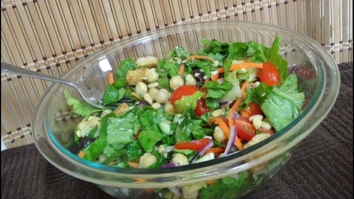 Satisfying ChickPea Salad video recipe by Bhavna – Perfect for Bachelors or Busy People