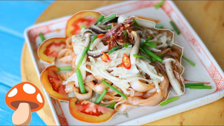 Mushroom Noodle Salad – Phở Trộn Nấm (Vegan)