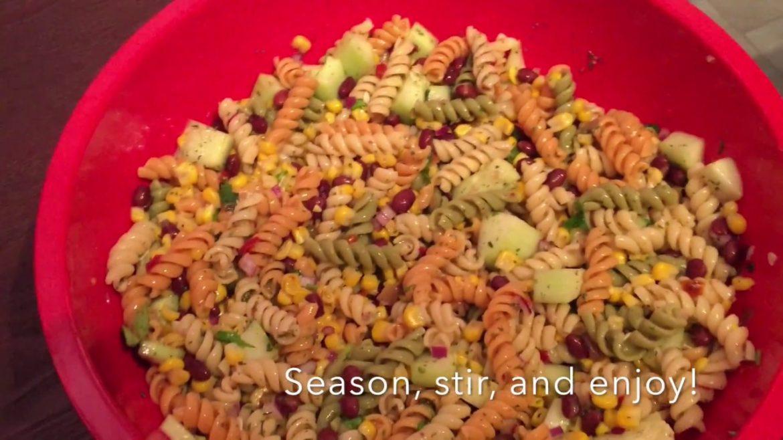 Quick and Easy! Pasta Salad Recipe! | My Vegan Diary