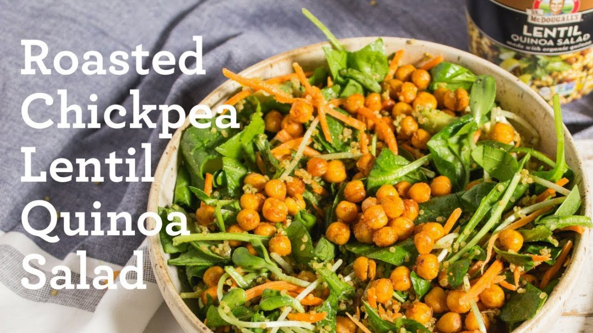 Roasted Chickpeas Quinoa Salad Bowl * Simple Easy Vegan Gluten-Free