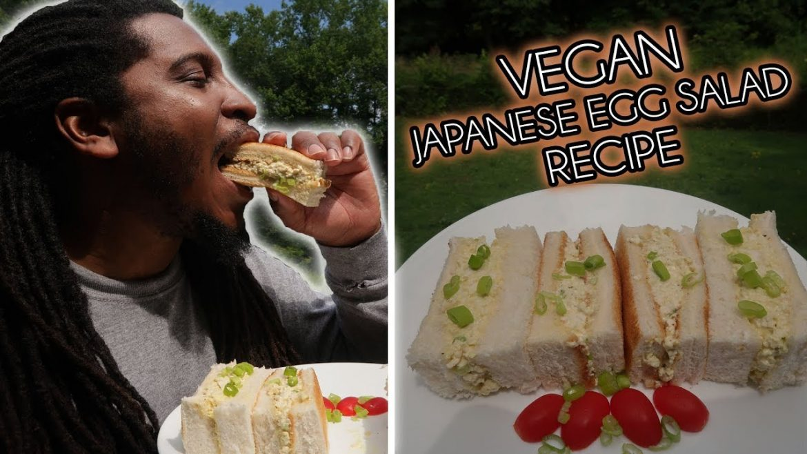 This Vegan Japanese Egg Salad Sandwich Recipe will have you obsessed!