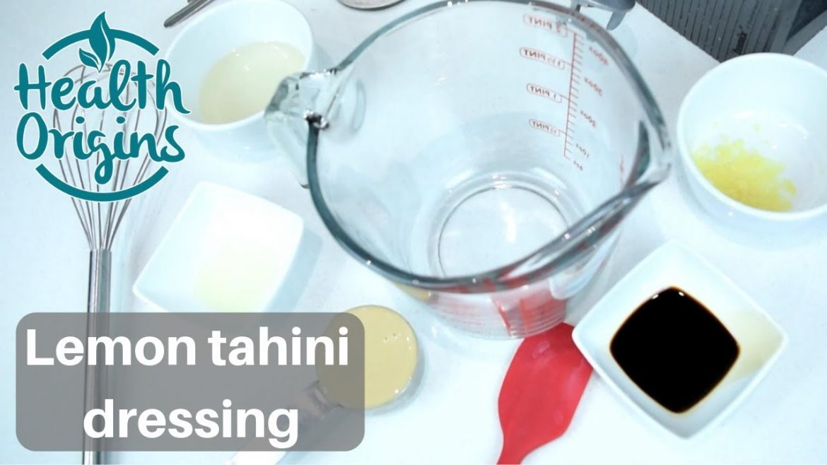 Veganuary – vegan salad dressing: lemon tahini dressing