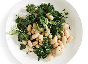 Lemon-Herb White Bean and Kale Salad