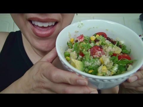 ASMR: Vegan Quinoa Salad | Vegan Ice Cream Bar | Eating Sounds