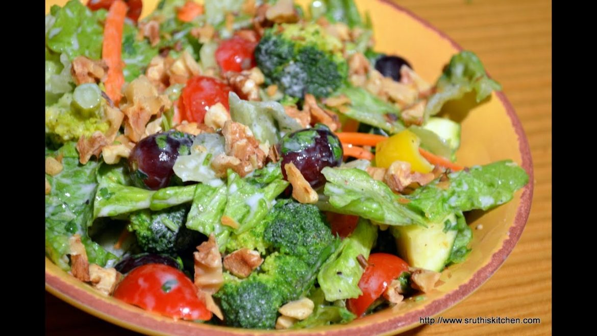 Broccoli & Lettuce Salad – Healthy Salad Recipe
