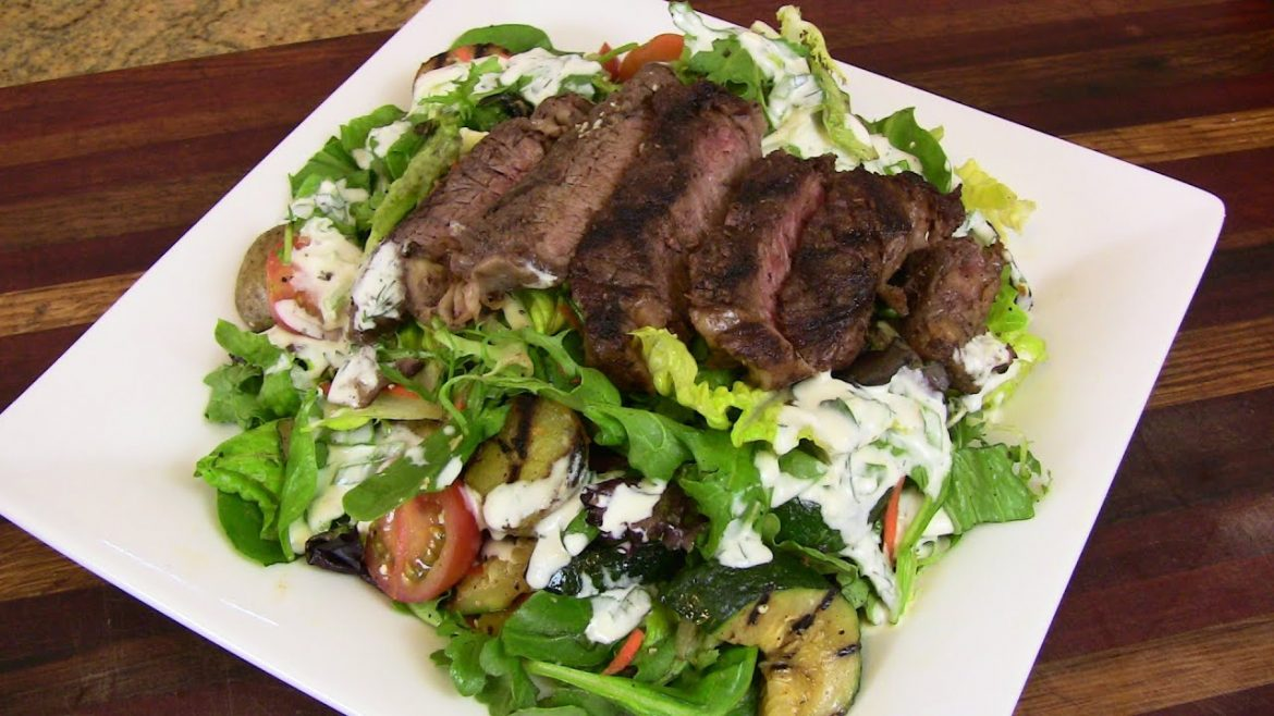 Grilled Ribeye Steak & Veggie Salad featuring Greensbury Market Meat & Seafood