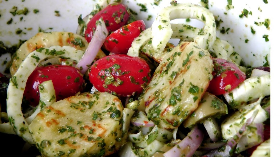 Grilled Potato Salad – Recipe by Laura Vitale – Laura in the Kitchen Episode 174