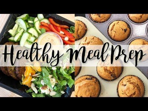 Healthy Meal Prep – Pasta e Fagioli Soup, Tuna Salad, Air Fryer Veggie Burgers // Collab with Kiera!
