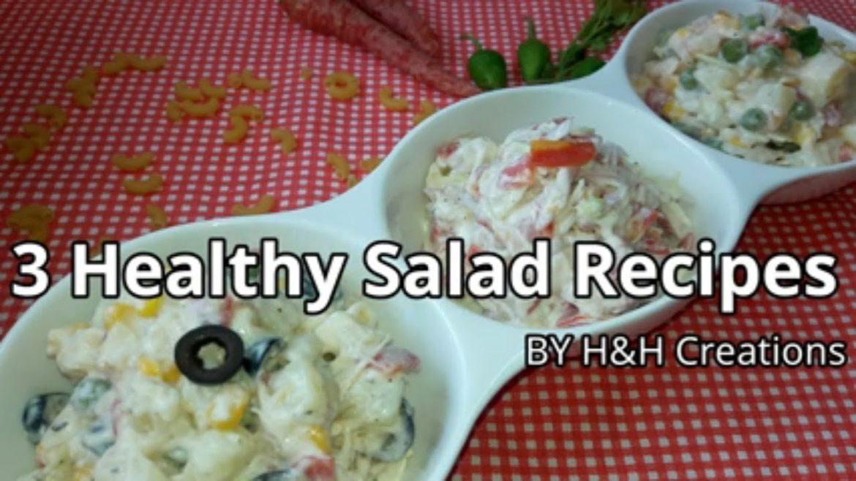3 Healthy Salad Recipes
