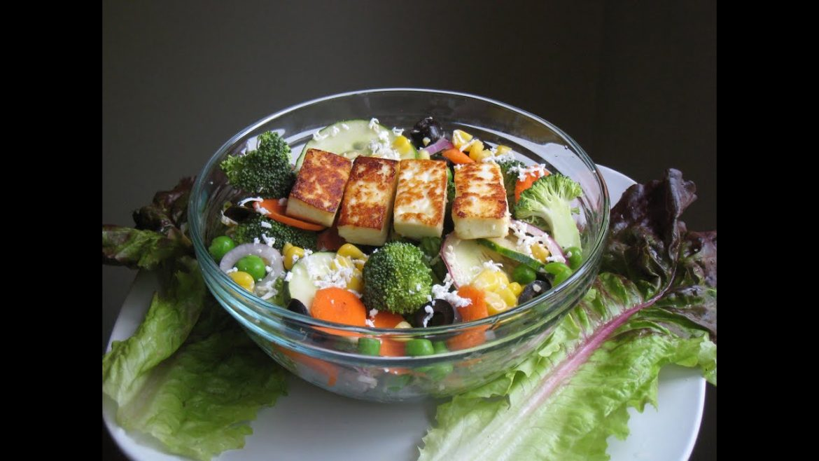 Mixed vegetable salad with paneer recipe